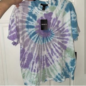 Tie dye purple shirt from forever 21 Brand new
